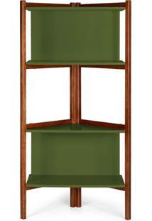 Estante Easy Cor Cacau Com Verde Escuro - 29000 - Sun House