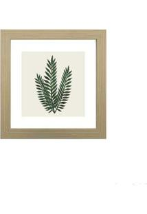 Quadro Decorativo Green Leaf Ii 23X23Cm Zebrano Infinity