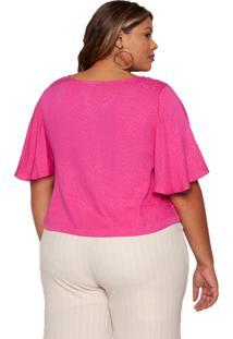 Blusa Almaria Plus Size Maxi Plus Pink