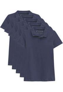 Kit De 5 Camisas Polo Femininas