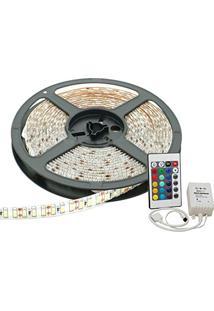 Fita Led Rgb 3528 12V Rolo 5M Ip65 Com Controle
