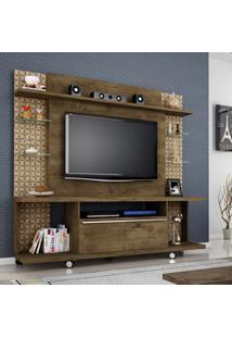 Estante Para Tv 55 Pol Móveis Bechara New Torino Madeira Rústica/3D