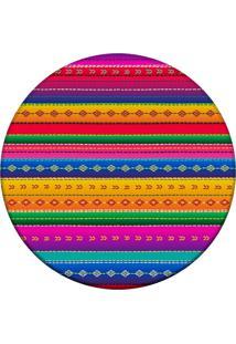 Tapete Love Decor Redondo Wevans Mexican Color Multicolorido 94Cm