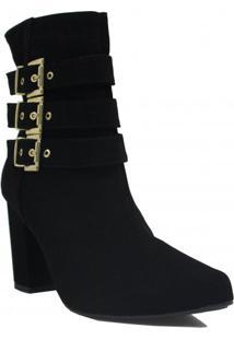 Bota Cano Curto Zariff Shoes Ankle Boot Fivela