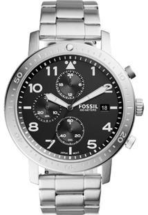 47577c83c85 Netshoes. Relógio Masculino Aço Fossil ...