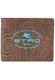 Etro Carteira Com Estampa De Logo - Vermelho