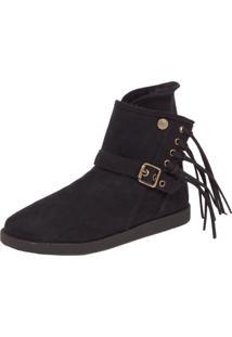 Bota Dafiti Shoes Pelo Preta