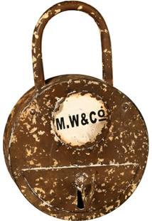 Porta-Chaves Decorativo De Metal Cadeado - Unissex
