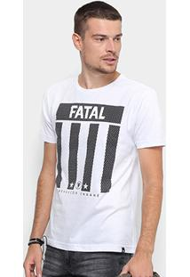 Camiseta Fatal Estampada Behavior Insane Masculina - Masculino-Branco