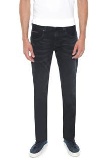 Calça Jeans Tommy Hilfiger Slim Bleecker Azul-Marinho