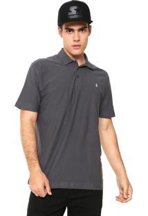 Camisa Polo Volcom Reta Basic Cinza