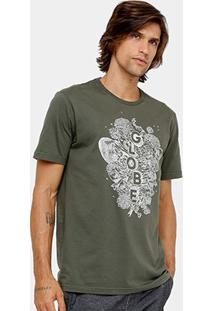 Camiseta Globe Básica Moht And Bones Masculina - Masculino