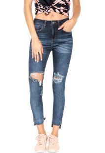 Calça Jeans John John Skinny High Azul-Marinho