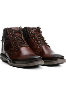 Sapato Social Couro Pegada Masculino - Masculino-Marrom