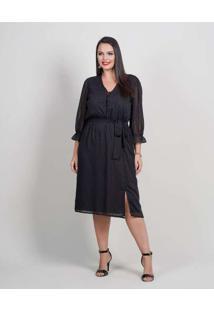 Vestido Midi Almaria Plus Size New Umbi Devorê Pre