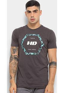 Camiseta Hd Nocturn Masculina - Masculino-Cinza