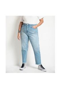 Calça Mom Jeans Com Tachas Aplicadas Curve & Plus Size