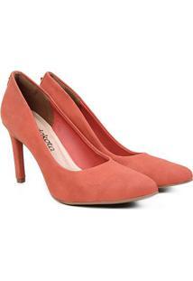 Scarpin Dakota Salto Alto Básico - Feminino-Vermelho Escuro