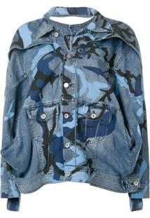 Diesel Red Tag Jaqueta Jeans Oversized - Azul