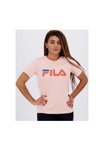 Camiseta Fila Basic Letter Feminina Rosa