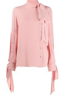 Nº21 Blusa Com Laço - Rosa