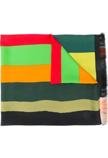 Pierre-Louis Mascia Echarpe Listrado Color Block - Verde