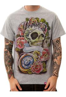 Camiseta Wevans Tattoo Old School Cinza Mescla