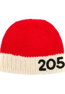 Calvin Klein 205W39Nyc Gorro Com Contraste - Vermelho