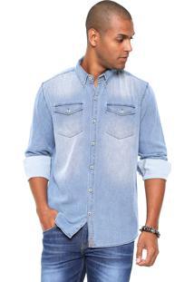 Camisa Hering Regular Estonada Azul