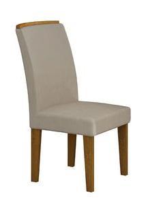 Cadeira Rufato Lunara Madeira Imbuia (2 Uni) Veludo Creme