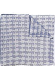Karl Lagerfeld Echarpe Com Estampa De Elefante - Azul