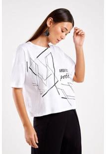Blusa Malha Silk Arquitetura Sacada Feminina - Feminino