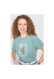 Camiseta Colcci Folhagem Verde