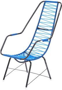 Cadeira De Fio Trançado Eletrostático Plus Azul Fabone Móveis Tubulares
