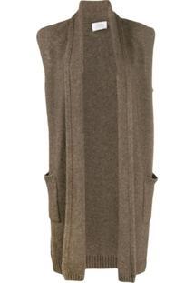 Snobby Sheep Knitted Midi Gilet - Marrom