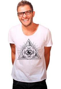 Camiseta Joss Corte A Fio Ilumination Masculina - Masculino-Branco