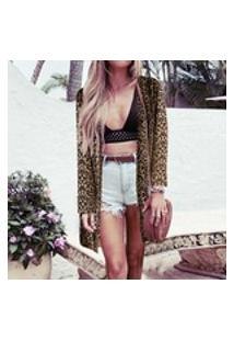 Mulheres Bohemian Summer Blusa Leopardo Impresso Cardigan Quimono Zanzea Casual Camisas De Manga Longa Feminina Praia Tops Chique Plus Size