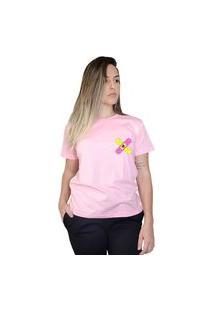 Camiseta Boutique Judith Broken Heart Rosa