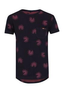 Camiseta Hd Especial Caliandra - Masculina - Preto/Vinho