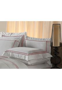 Fronha Harmonious Red Algodão Branca 50X150