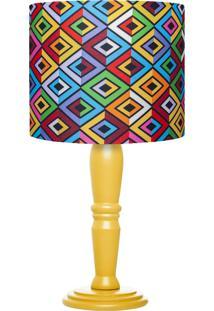 Abajur Carambola Prisma Colorido - Multicolorido - Dafiti