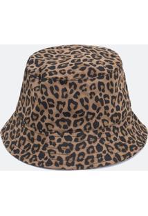 Chapéu Bucket Estampado Onça