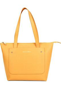 Bolsa Loucos & Santos Shopper Floter Soft Feminina - Feminino-Amarelo