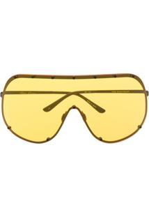 Rick Owens Óculos De Sol Larry Shield - Amarelo