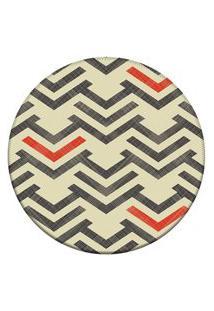 Tapete Love Decor Redondo Wevans Setas Bege 94Cm