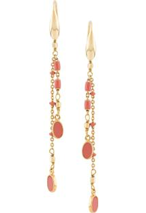Isabel Marant Casablanca Chain Earrings - Dourado