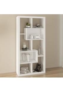 Estante Para Livros Com 2 Nichos E1712 Tecno Mobili Branco
