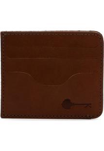 Carteira Porta Cartão Key Design - Wallet Card Holder - Caramel - Masculino