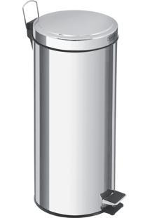 Lixeira Com Pedal Em Aço Inox Acabamento Polido De 30 Litros - Tramontina