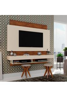Painel Para Tv 65 Polegadas Araxá I Branco Brilho E Nobre 181 Cm